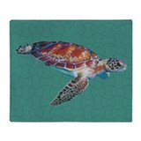 Turtle blanket Fleece Blankets