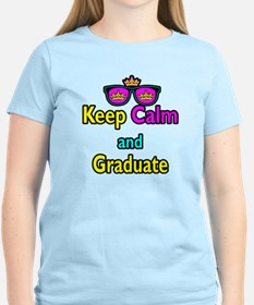 Crown Sunglasses Keep Calm And Graduate T-Shirt
