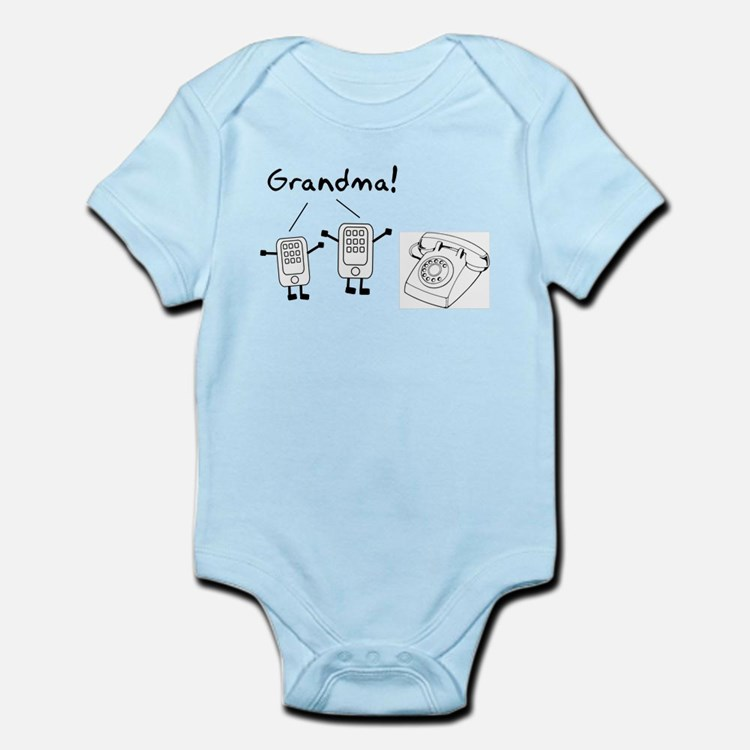 Rotary Cell Phone Grandma Infant Bodysuit