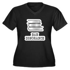Ban ignorance not books Women's Plus Size V-Neck D