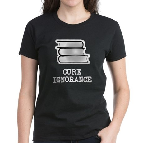 Ban ignorance not books Women's Dark T-Shirt