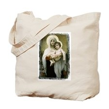 Madonna Of The Roses Tote Bag