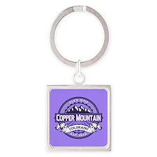 Copper Mountain Purple Square Keychain