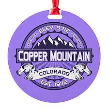 Copper Mountain Purple Ornament