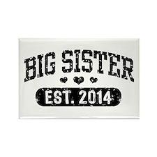 Big Sister Est. 2014 Rectangle Magnet