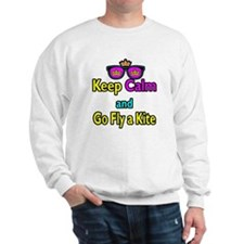 Crown Sunglasses Keep Calm And Go Fly a Kite Sweat