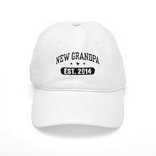 New Grandpa Est. 2014 Baseball Cap