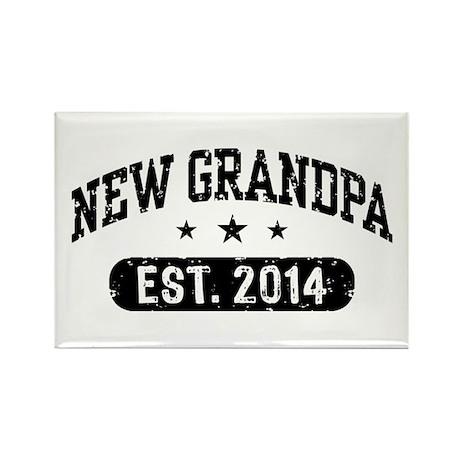 New Grandpa Est. 2014 Rectangle Magnet