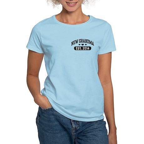 New Grandma Est. 2014 Women's Light T-Shirt