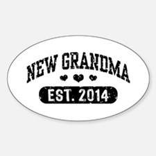 New Grandma Est. 2014 Sticker (Oval)