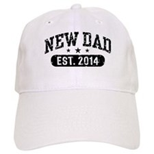 New Dad Est. 2014 Baseball Cap