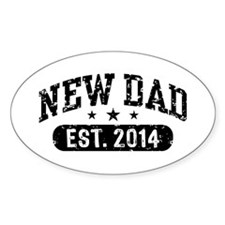 New Dad Est. 2014 Stickers