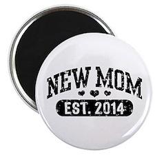 New Mom Est. 2014 Magnet