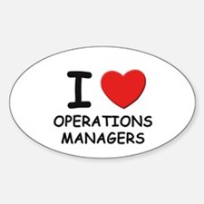 I love operations managers Oval Decal