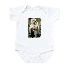 Madonna Of The Roses White Infant Bodysuit