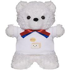 Kawaii tofu asking people to love tofu Teddy Bear