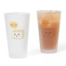 Kawaii tofu asking people to love tofu Drinking Gl