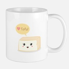 Kawaii tofu asking people to love tofu Mug