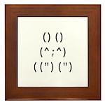 Bunny Text Framed Tile