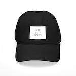Bunny Text Black Cap