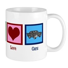 Peace Love Cars Mug