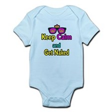 Crown Sunglasses Keep Calm And Get Naked Infant Bo