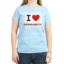 I love oceanologists Women's Pink T-Shirt