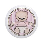 Baby Girl Keepsake Ornament (Round)