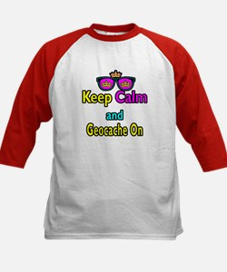 Crown Sunglasses Keep Calm And Geocache On Tee