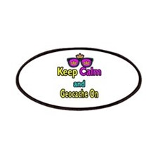 Crown Sunglasses Keep Calm And Geocache On Patches