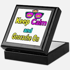 Crown Sunglasses Keep Calm And Geocache On Keepsak