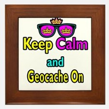 Crown Sunglasses Keep Calm And Geocache On Framed
