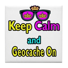 Crown Sunglasses Keep Calm And Geocache On Tile Co