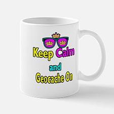 Crown Sunglasses Keep Calm And Geocache On Mug