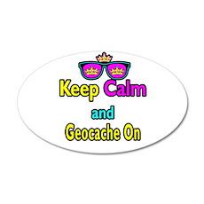 Crown Sunglasses Keep Calm And Geocache On 20x12 O
