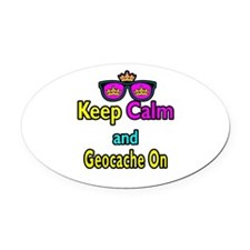 Crown Sunglasses Keep Calm And Geocache On Oval Ca