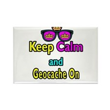 Crown Sunglasses Keep Calm And Geocache On Rectang