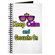 Crown Sunglasses Keep Calm And Geocache On Journal