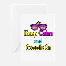 Crown Sunglasses Keep Calm And Geocache On Greetin