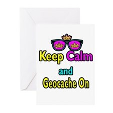 Crown Sunglasses Keep Calm And Geocache On Greetin