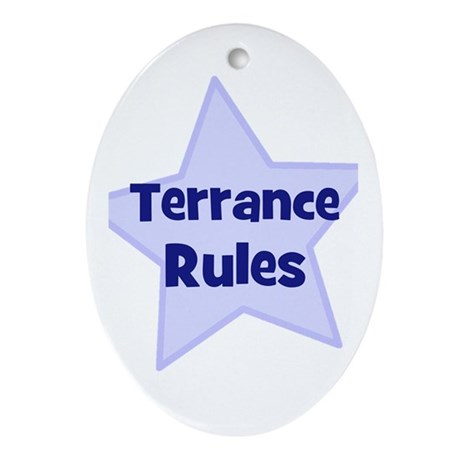 Terrance Rules Oval Ornament