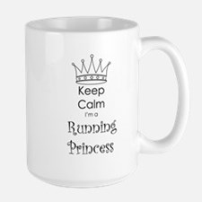 Keep Calm I'm a Running Princess Mug