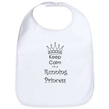 Keep Calm I'm a Running Princess Bib