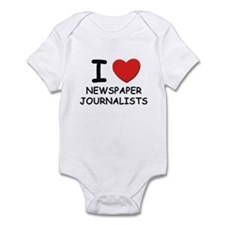 I love newspaper journalists Infant Bodysuit