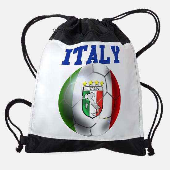 Italy Soccer Ball Drawstring Bag