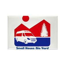 Small House Big Yard RV T-Shirt Rectangle Magnet
