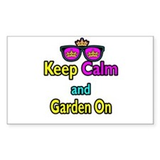 Crown Sunglasses Keep Calm And Garden On Decal