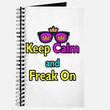 Crown Sunglasses Keep Calm And Freak On Journal