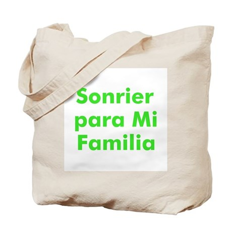 Sonrier para Mi Familia Tote Bag