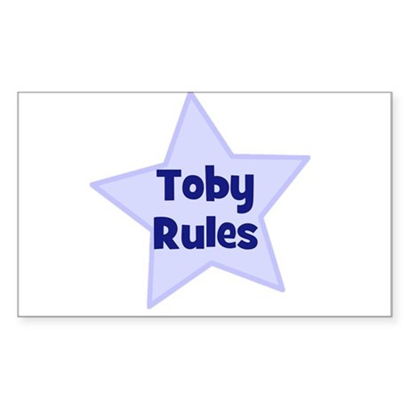 Toby Rules Rectangle Sticker